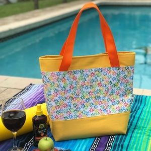 Colorful Daisy Tote Bag / Floral Tote Bag